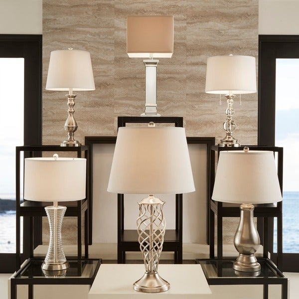 Vincennes 3 Way 1 Light Clear Glass Contoured Base Accent Table Lamp By INSPIRE Q Bold