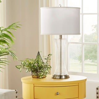Vincennes 3-way 1-light Clear Glass Contoured Base Accent Table Lamp by iNSPIRE Q Bold