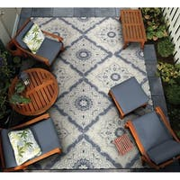 "Gelato Apulia Ivory-Grey Indoor/Outdoor Area Rug - 8'1"" x 11'2"""