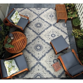 """Dolce Brindisi/Ivory-Confederate Grey 5'3"""" X 7'6"""" Rug"""