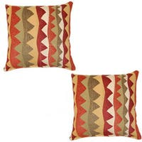 Zig Zag Multi 17-inch Throw Pillows (Set of 2)