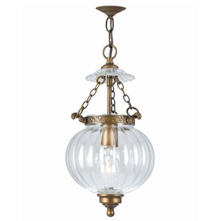 Crystorama Camden Collection 1-light Antique Brass Pendant