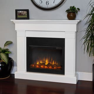 Real Flame Crawford Slim Line White 47.4 in. L x 9.5 in. D x 41.9 in. H Electric Fireplace|https://ak1.ostkcdn.com/images/products/8485025/Real-Frame-Crawford-White-Electric-Fireplace-P15773014.jpg?impolicy=medium