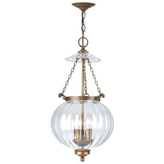 Crystorama Camden Collection 3-light Antique Brass Pendant