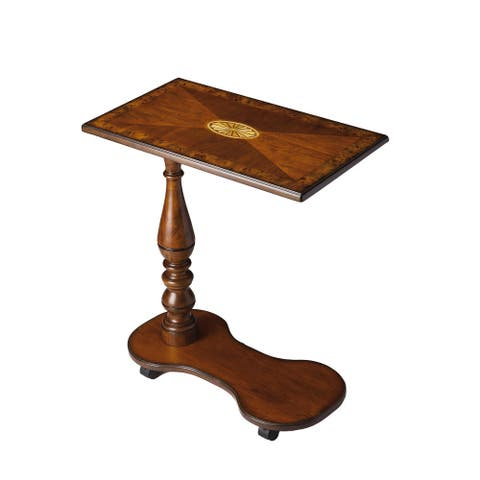 Handmade Butler Delicate Wood Inlay Tray Table