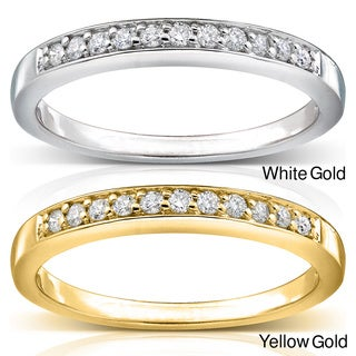 Annello by Kobelli 14k Gold 2 mm 1/10ct TDW Pave-set Diamond Band