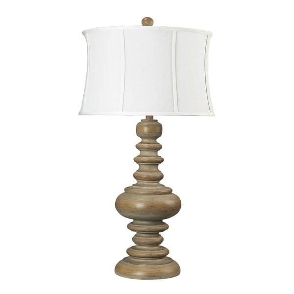 Dimond Lighting 1-light Bleached Wood-finish Table Lamp