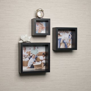 Photo Frame Wall Cube Shelf Set (Set of 3)
