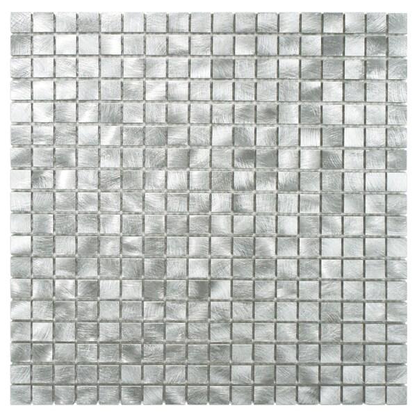Somertile 11 875x11 875 inch alumini mini palladium brushed aluminum