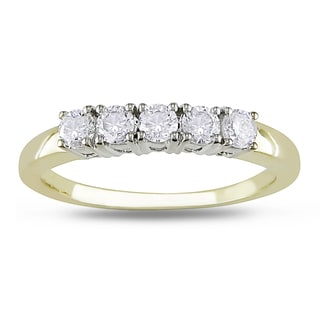Miadora 14k Two-tone Gold 1/2ct TDW Diamond 5-stone Ring (G-H, I1-I2)