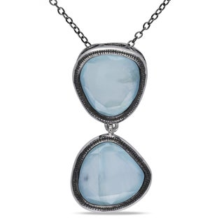 Miadora Sterling Silver Aquamarine Necklace