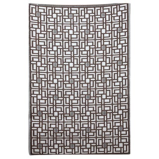 b.b.begonia Omega Reversible Design Brown and White Outdoor Rug (4' x 6')