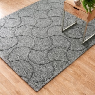 Hand Tufted Benson Grey Rug (5'0 x 7'6)