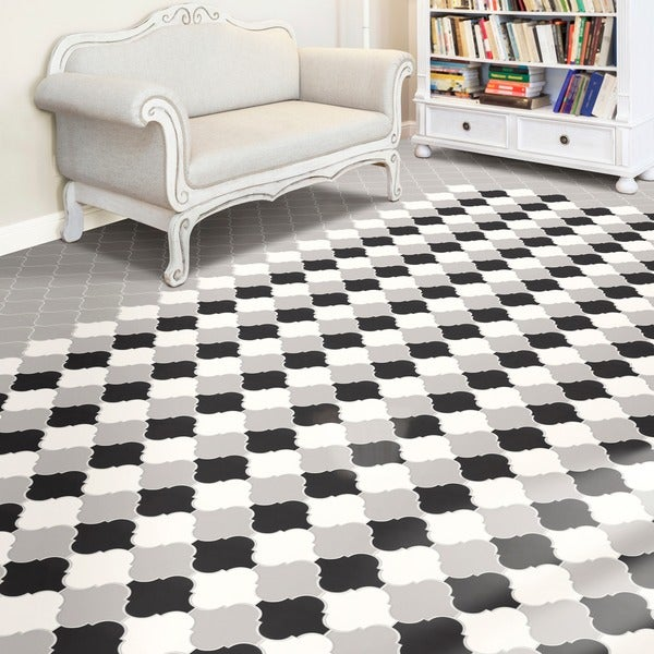 Somertile 8x8 inch morocco provenzale light grey porcelain for 16 inch floor tiles