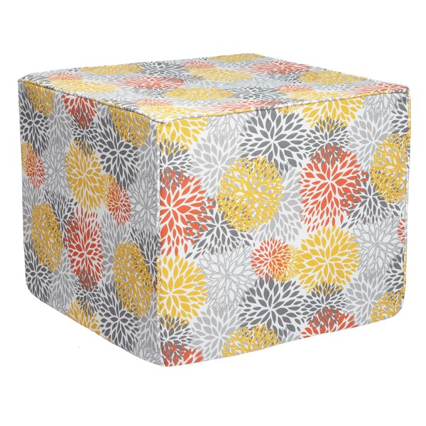 Brooklyn Tango Bloom 22-inch Square Indoor/ Outdoor Ottoman
