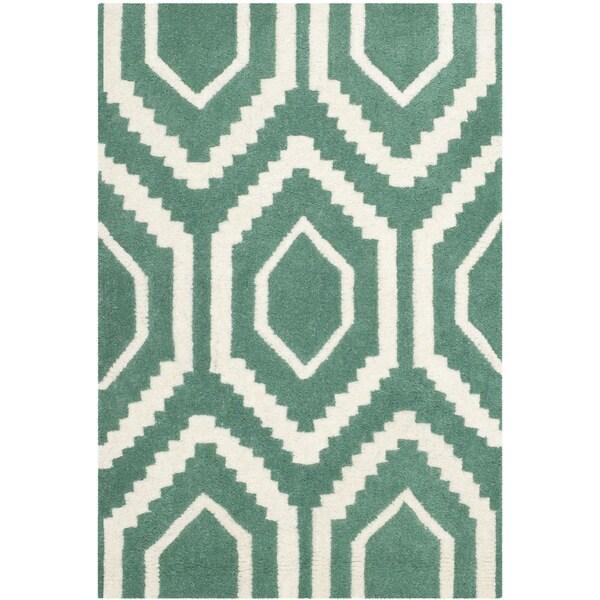 Safavieh Handmade Moroccan Chatham Geometric-pattern Teal
