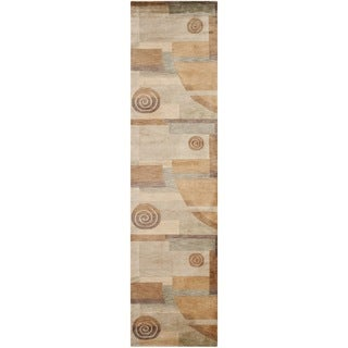 Safavieh Hand-knotted Tibetan Modern Abstract Multicolored Wool Rug (2'6 x 10')