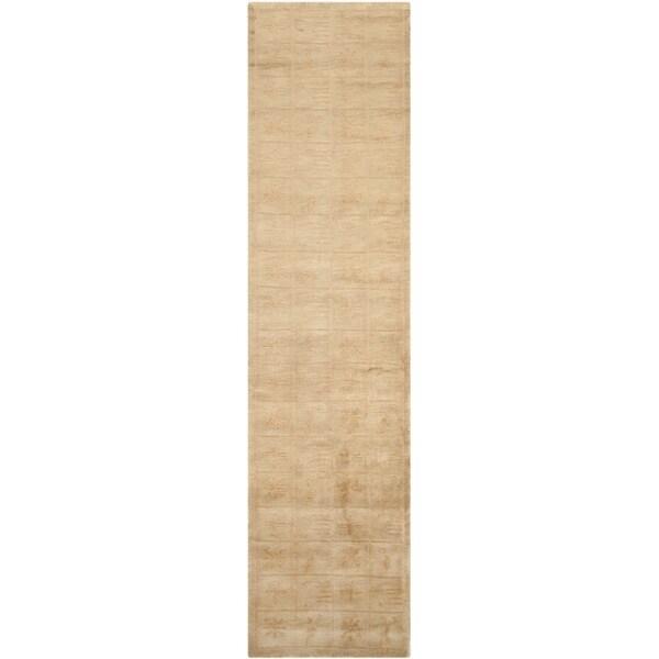 Safavieh Hand-knotted Tibetan Green Wool/ Silk Rug (2'6 x 10')