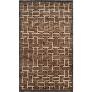 Safavieh Hand-knotted Tibetan Thatched Multicolored Wool Rug (3' x 5')