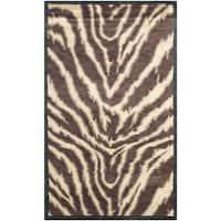 Safavieh Hand-knotted Tibetan Animal Print Black/ Ivory Wool Rug - 3' x 5'