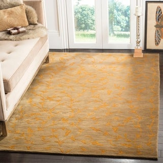 Safavieh Couture Hand-knotted Tibetan Ingileif Modern Wool Rug