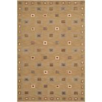 Safavieh Hand-knotted Tibetan Geometric Gold Wool Area Rug - 4' x 6'