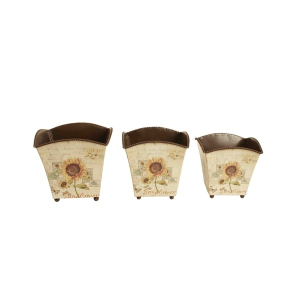 Wald Imports Metal Planters Set of 3