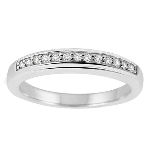 Sterling Silver 1/8ct TDW Diamond Band