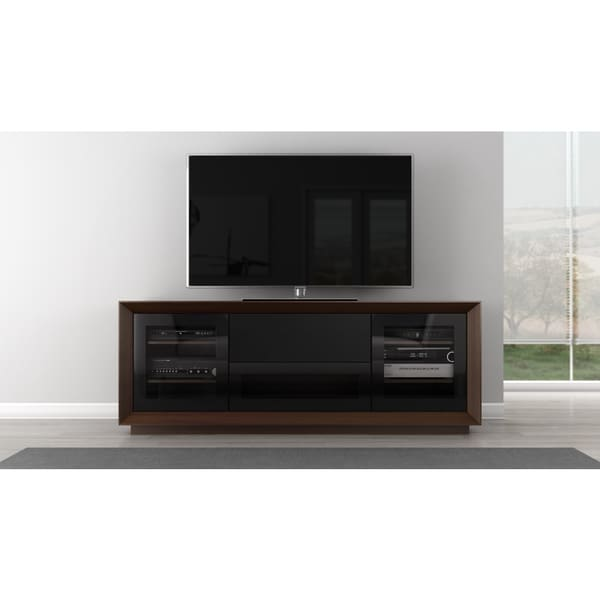 Furnitech Walnut Veneer Contemporary 70 Inch TV Stand