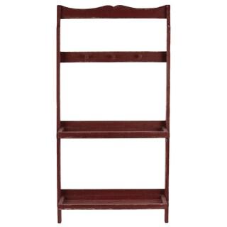 Wooden Shelf & Hanger Red