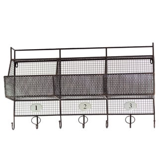Metal Shelf 3-hook Coat Hanger