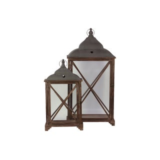 Wooden Lantern (Set of Two)