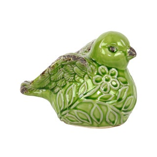 Green Ceramic Bird