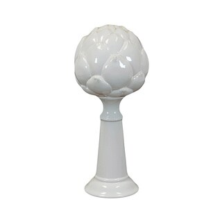 Shop Large White Ceramic Artichoke On Stand Free