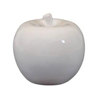 Small White Ceramic Apple