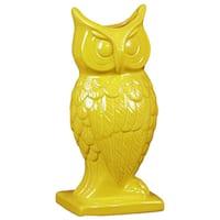 Yellow Ceramic Owl