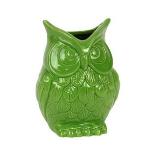 Green Ceramic Owl