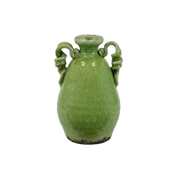Shop Utc76037 Ceramic Round Bellied Tuscan Vase With 2 Looped