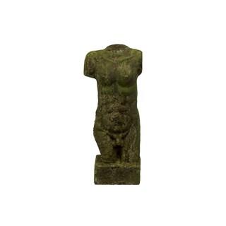 Moss Stoneware Male Bust