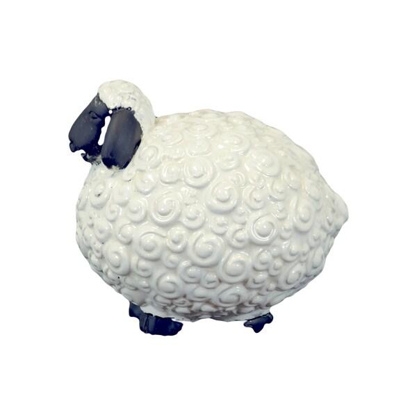 Shop Large White Ceramic Sheep Free Shipping Today