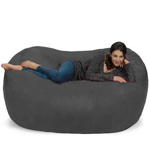 Large Memory Foam Microsuede Bean Bag Chair Loveseat