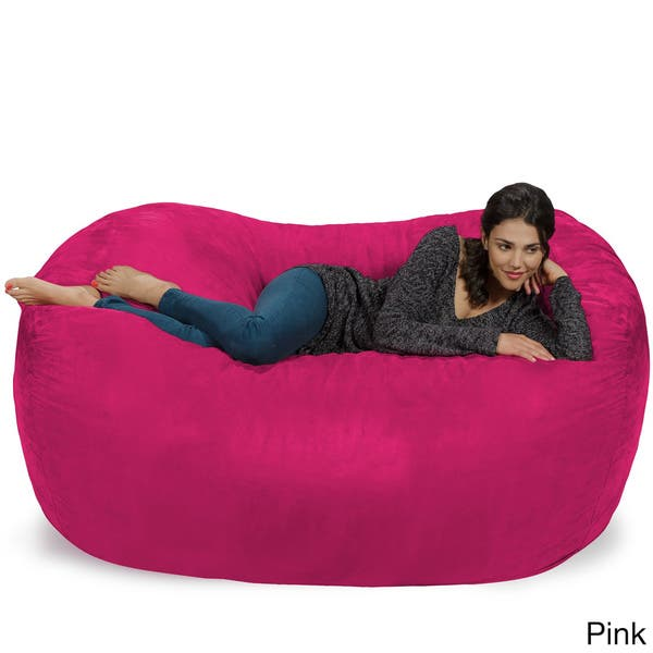 Amazing Shop Large Memory Foam Micro Suede Beanbag Couch On Sale Inzonedesignstudio Interior Chair Design Inzonedesignstudiocom