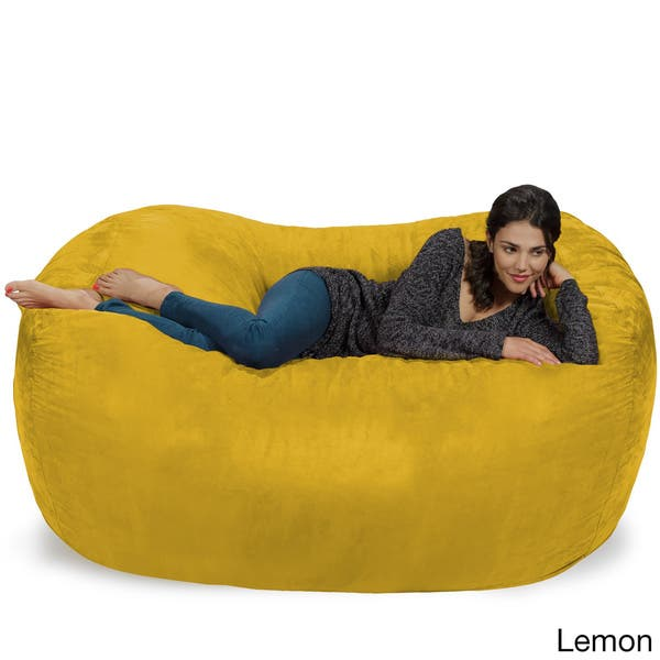 Magnificent Shop Large Memory Foam Micro Suede Beanbag Couch On Sale Inzonedesignstudio Interior Chair Design Inzonedesignstudiocom