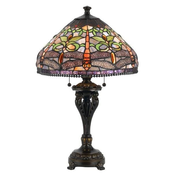 Cal Lighting Tiffany Antique Bronze Table Lamp   15774250