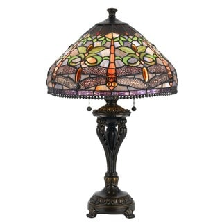 Cal Lighting Tiffany-style Antique Bronze Table Lamp
