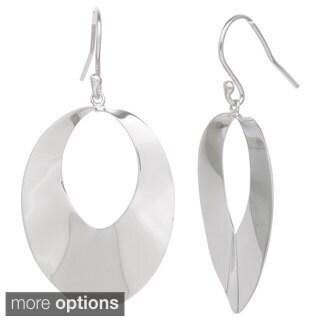 Gioelli Sterling Silver Shimmering Dangle Earrings