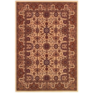 "Himalaya Kailash/Antique Cream-Persian Red 5'3"" x 7'6"" Rug"