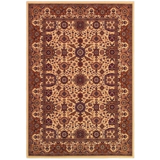 "Himalaya Kailash/Antique Cream-Persian Red 6'6"" x 9'6"" Rug"