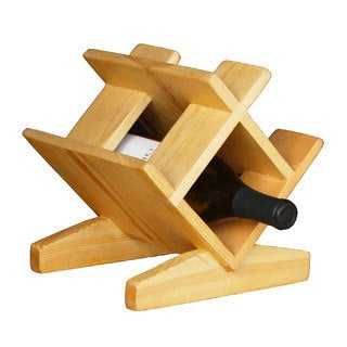 Bordeaux Natural Wood Wine Rack