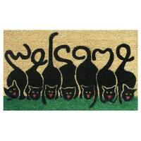 """Cats Welcome-Coir with Vinyl Backing Doormat (17"""" x 29"""")"""
